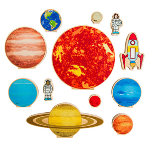 Travelling in Space Wooden Block Set