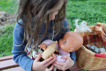 Load image into Gallery viewer, Wooden baby doll bottle