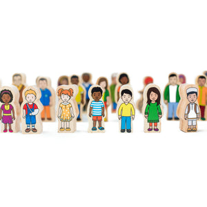 My Family - Wooden People set