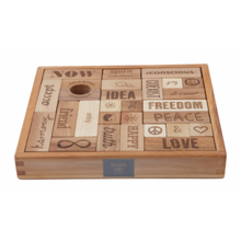 Load image into Gallery viewer, Wooden Story Blocks Natural Peace and Love®, 29 pieces
