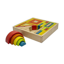Load image into Gallery viewer, Wooden Rainbow Block Set