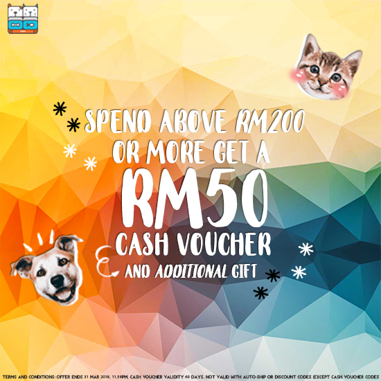 Get Rewarded With RM50 For Purchases Above RM200 Only!