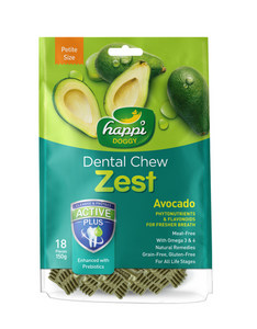 Happi Doggy Dental Chew Zest Petite Avocado [18 Pcs] 150g