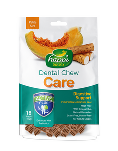 Happi Doggy Dental Chew Care Digestive  Support Dog Treat 150g