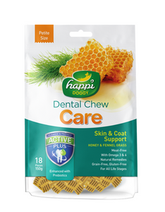 Happi Doggy Dental Chew Care Skin & Coat Support Dog Treat 150g (2 Sizes)