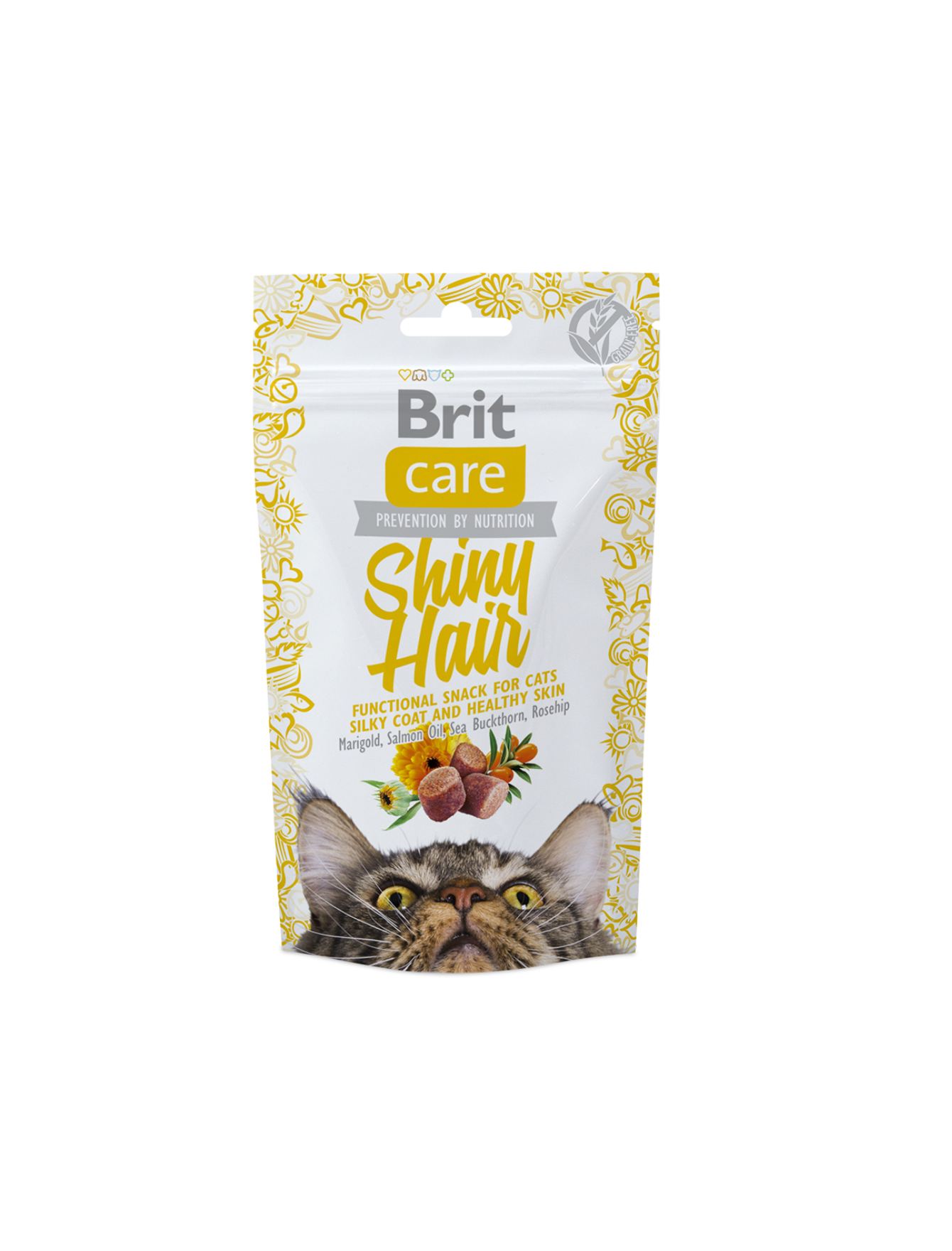 Brit Care Shiny Hair Cat Snack 50g | Waggymeal Online Pet Store Malaysia