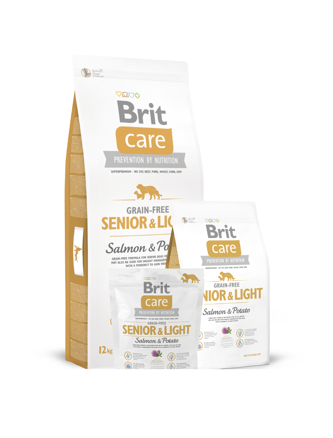Brit Care Grain Free Senior Salmon & Potato Dry Dog Food (3kg)