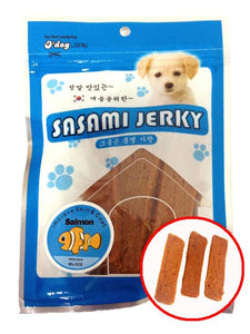 D'Dog Sasami Salmon Jerky Dog Treats