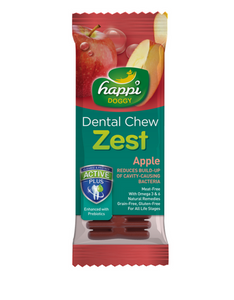 Happi Doggy Dental Chew Zest Apple 4 inch