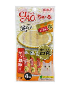 Ciao Chu-Ru Chicken Fillet With Scallop & Slice Bonito 12gm x 4