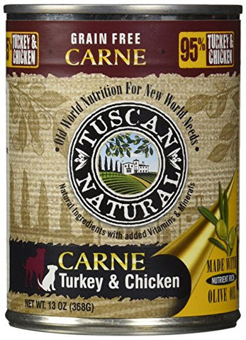 Tuscan Natural Carne Grain-Free Turkey & Chicken Dog Canned Food