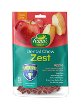 Load image into Gallery viewer, Happi Doggy Dental Chew Zest Petite Apple 150g | Waggymeal Online Pet Store Malaysia