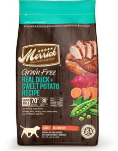 Merrick Grain Free Real Duck & Sweet Potato Dry Dog Food (3 sizes)