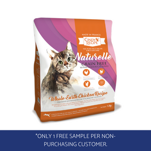 Cindy's Recipe Naturelle grain-free dry cat food sample