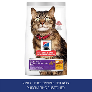 Hill's® Science Diet® Adult Sensitive Stomach & Skin cat food sample