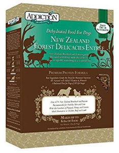 Addiction New Zealand Forest Delicacies Raw Dehydrated Dog Food (2 Sizes)