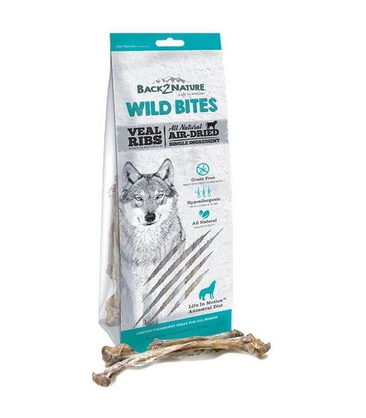 Back 2 Nature Wild Bites Veal Ribs Dog Treats (100g)
