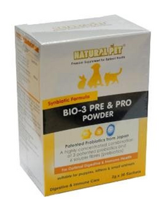 Natural Pet Bio-3 Pre & Pro Powder (2g x 30 sachets) For Pets