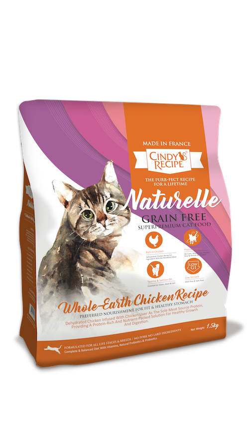 Cindy Recipe Naturelle Grain Free Whole-Earth Chicken Cat Dry Food (Buy Big Bag Free Small Bag)