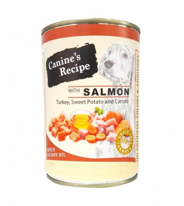 Canine's Recipe with Salmon, Turkey, Sweet Potato & Carrot Dog Wet Food (400g)