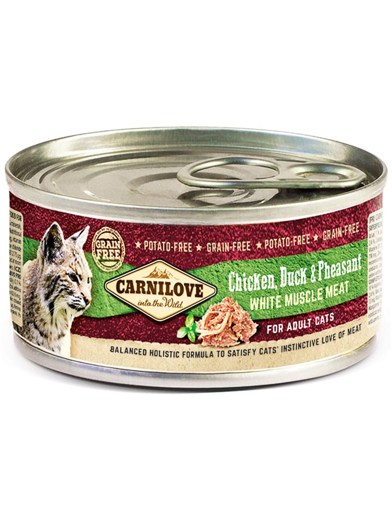 Carnilove Chicken, Duck & Pheasant Wet Cat Food 100g| Waggymeal Online Pet Store Malaysia
