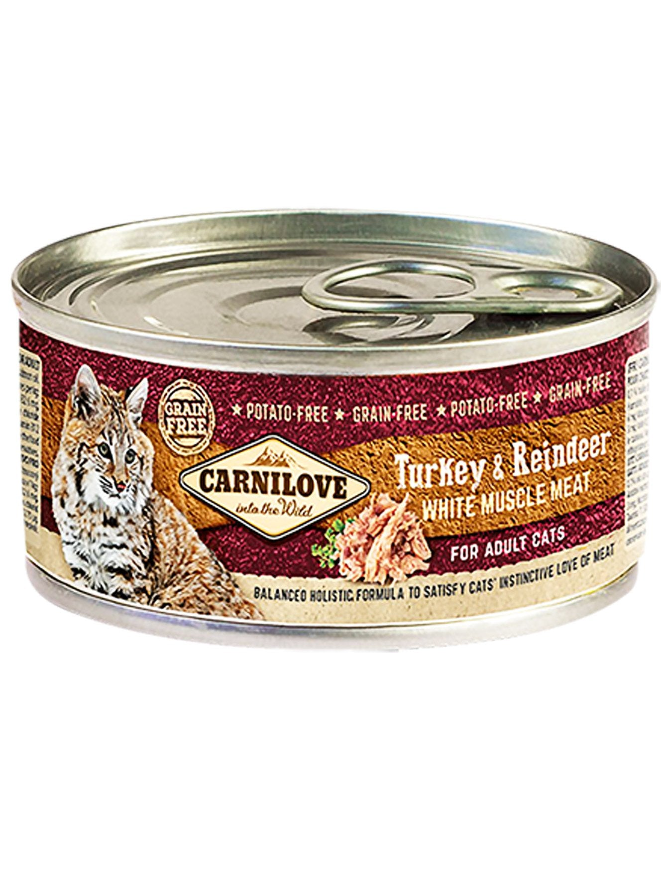 Carnilove Turkey & Reindeer Wet Cat Food 100g| Waggymeal Online Pet Store Malaysia