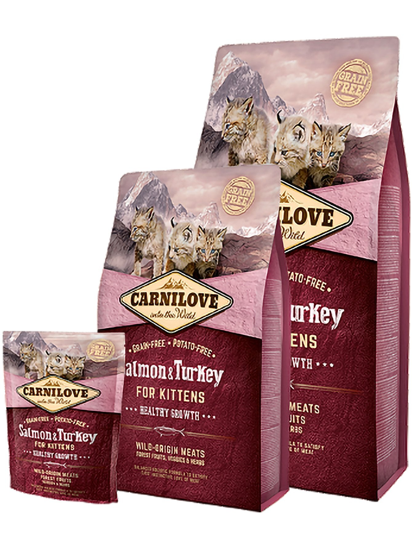 Carnilove Turkey & Salmon Kitten Dry Cat Foo| Waggymeal Online Pet Store Malaysia