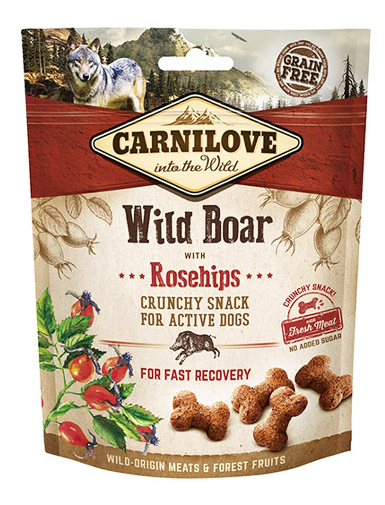 Carnilove Wildboar with Rosehip Crunchy Snack Dog Treats 200g| Waggymeal Online Pet Store Malaysia