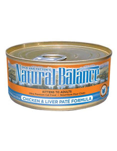 Natural Balance Chicken & Liver Pate Formula Cat Wet Food 170g (6oz.)