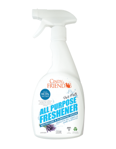 Cindy & Friends All Purpose Freshener Spray (Lavender) 500ml | Waggymeal Online Pet Store Malaysia