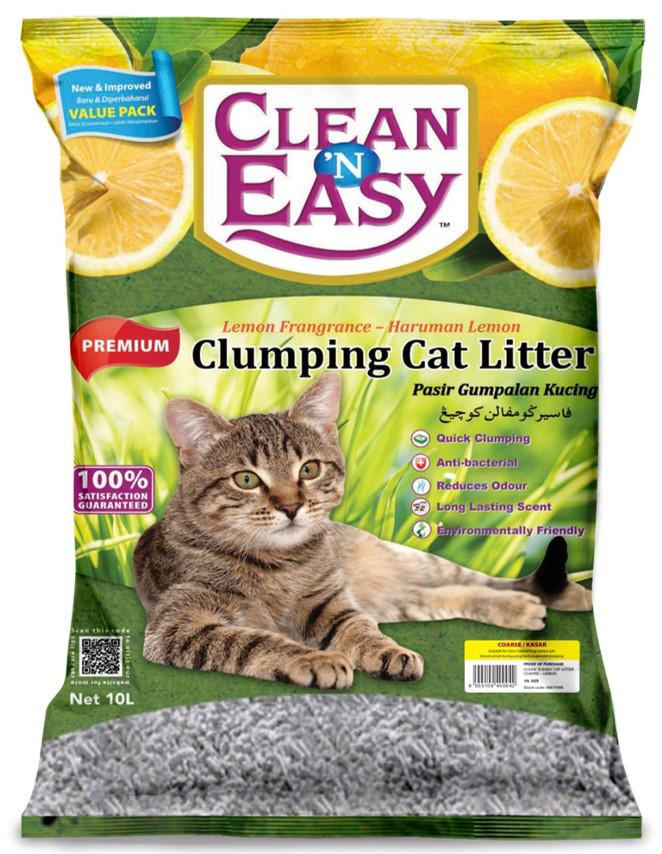Clean n Easy Clumping Coarse Lemon 10L