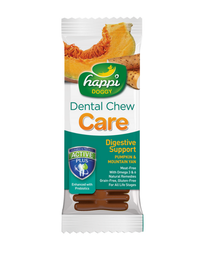 Happi Doggy Dental Chew Care Pumpkin & Mountain Yam (Digestive Support) 4"