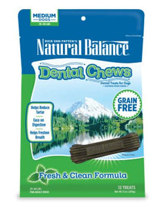 Natural Balance Dental Chews Fresh & Clean Formula Mini Dog Treats 12.5oz