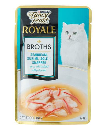 Fancy Feast Bream Surimi Sole Snapper Broth Cat Wet Food | Waggymeal Online Pet Store Malaysia