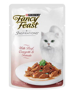 Fancy Feast Inspirations Beef Courgette Cat Wet Food 70g