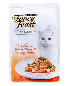 Fancy Feast Inspirations Salmon Spinach Cat Wet Food 70g
