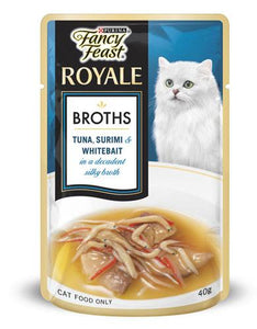 Fancy Feast Tuna Surimi Whitebait Broth Cat Wet Food 40g