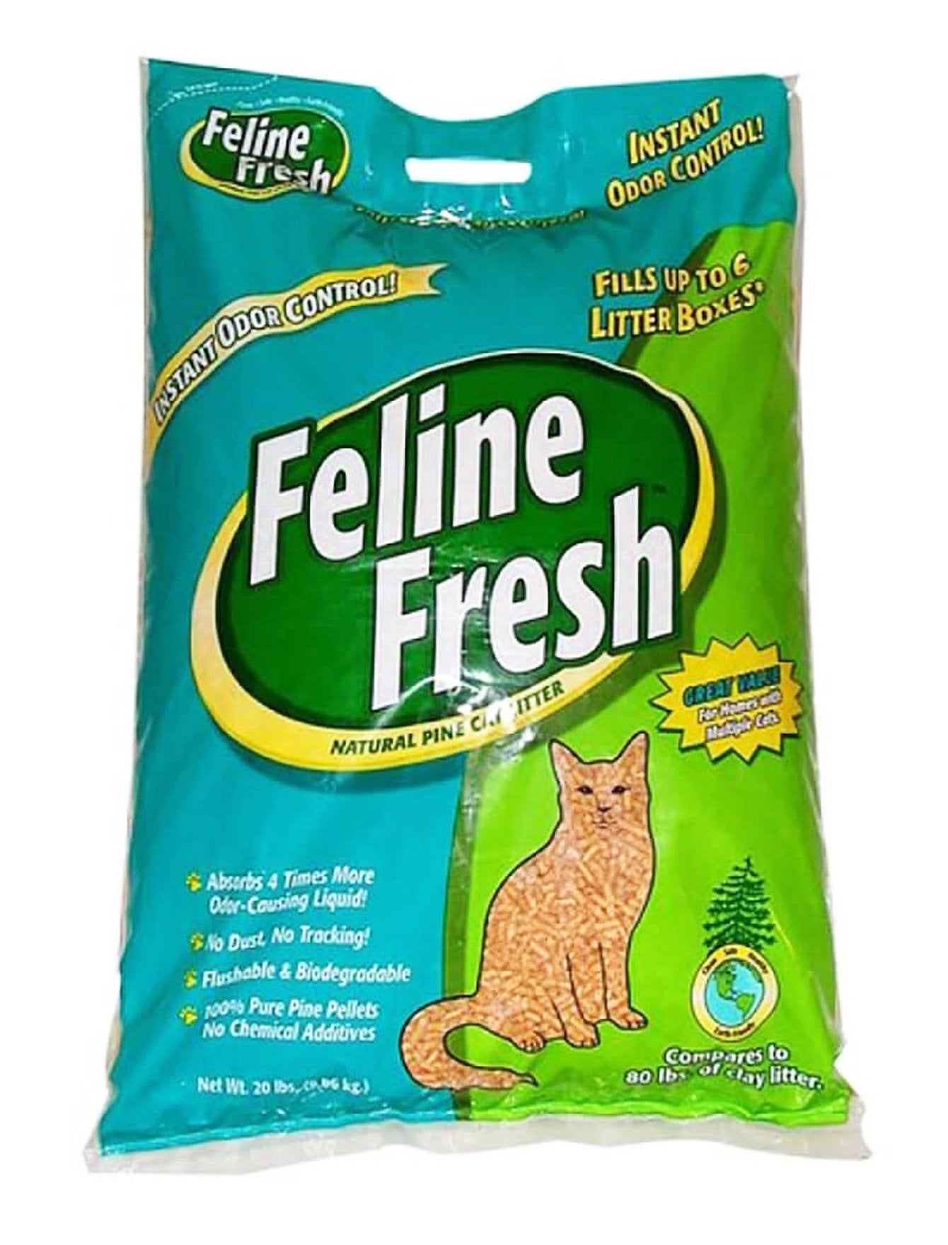 Feline Fresh Natural Pine Cat Litter 20lb| Waggymeal Online Pet Store Malaysia