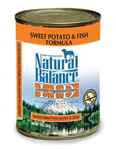 Natural Balance Fish & Sweet Potato Formula Dog Wet Food 369g (13oz.)