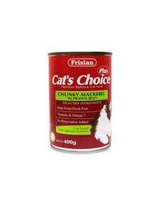 Frisian Cat's Choice Chunky Mackerel in Prawn Jelly Cat Wet Food 400g