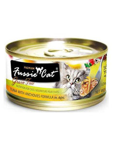 Fussie Cat Black Label Premium Tuna with Anchovies Formula in Aspic Canned Cat Food 80g