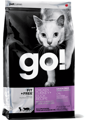 Go! Fit + Free Grain Free Chicken, Turkey + Duck Recipe Cat Dry Food