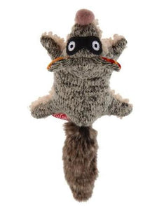 Gigwi Plush Mute Friendz Racoon Dog Toy