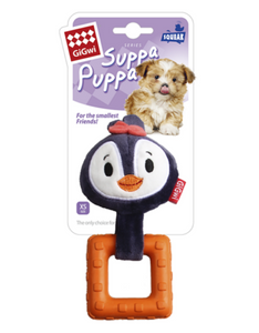Gigwi Suppa Puppa Series Teething Plush Penguin Dog Toy