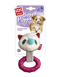 Gigwi Suppa Puppa Series Teething Plush Racoon Dog Toy