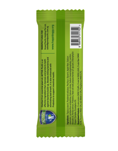 "Happi Doggy Dental Chew Zest Avocado 4""- 50Pcs 