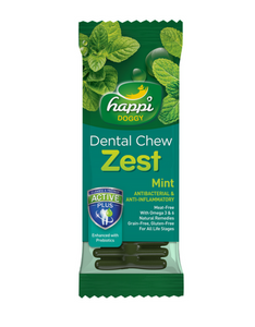 Happi Doggy Dental Chew Zest Mint 4 inch