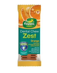 Happi Doggy Dental Chew Zest Orange 4 inch