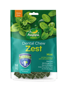 Happi Doggy Dental Chew Zest Petite Mint [18 Pcs] 150g