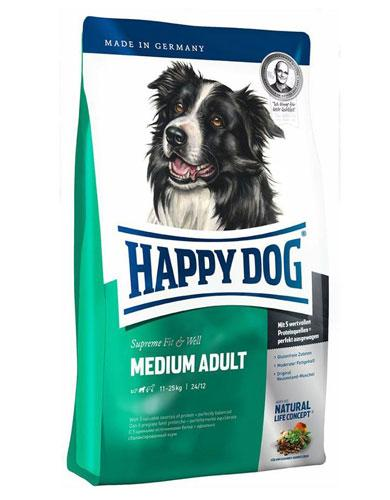 Happy Dog Fit & Well Medium Adult Dog Dry Food | Waggymeal Online Pet Store Malaysia